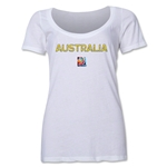 Australia FIFA Women's World Cup Canada 2015(TM) Women's Scoopneck T-Shirt (White)