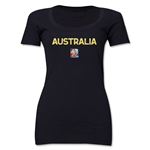 Australia FIFA Women's World Cup Canada 2015(TM) Women's Scoopneck T-Shirt (Black)