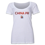 China FIFA Women's World Cup Canada 2015(TM) Women's Scoopneck T-Shirt (White)