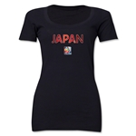 Japan FIFA Women's World Cup Canada 2015(TM) Women's Scoopneck T-Shirt (Black)