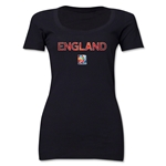 England FIFA Women's World Cup Canada 2015(TM) Women's Scoopneck T-Shirt (Black)
