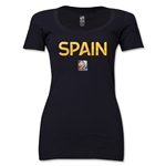 Spain FIFA Women's World Cup Canada 2015(TM) Women's Scoopneck T-Shirt (Black)