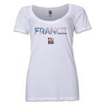 France FIFA Women's World Cup Canada 2015(TM) Women's Scoopneck T-Shirt (Black)