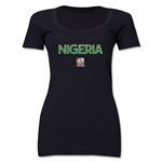 Nigeria FIFA Women's World Cup Canada 2015(TM) Women's Scoopneck T-Shirt (Black)