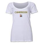 Cameroon FIFA Women's World Cup Canada 2015(TM) Women's Scoopneck T-Shirt (White)