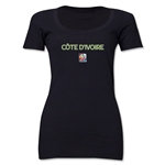 Cote d'Ivoire FIFA Women's World Cup Canada 2015(TM) Women's Scoopneck T-Shirt (White)