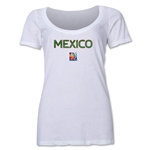Mexico FIFA Women's World Cup Canada 2015(TM) Women's Scoopneck T-Shirt (White)