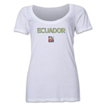 Ecuador FIFA Women's World Cup Canada 2015(TM) Women's Scoopneck T-Shirt (White)