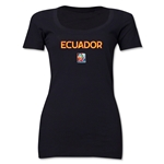 Ecuador FIFA Women's World Cup Canada 2015(TM) Women's Scoopneck T-Shirt (Black)