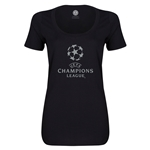 UEFA Champions League Women's Scoopneck T-Shirt (Black)