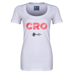 Croatia Euro 2016 Women's Elements Scoopneck T-Shirt (White)