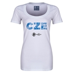 Czech Republic Euro 2016 Women's Elements Scoopneck T-Shirt (White)