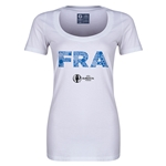 France Euro 2016 Women's Elements Scoopneck T-Shirt (White)