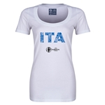 Italy Euro 2016 Women's Elements Scoopneck T-Shirt (White)
