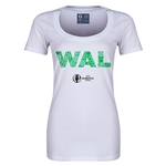 Wales Euro 2016 Women's Elements Scoopneck T-Shirt (White)