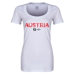 Austria Euro 2016 Women's Core Scoopneck T-Shirt (White)
