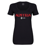 Austria Euro 2016 Women's Core Scoopneck T-Shirt (Black)