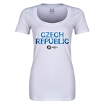 Czech Republic Euro 2016 Women's Core Scoopneck T-Shirt (White)