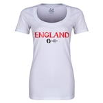 England Euro 2016 Women's Core Scoopneck T-Shirt (White)