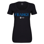 France Euro 2016 Women's Core Scoopneck T-Shirt (Black)