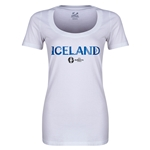 Iceland Euro 2016 Women's Core Scoopneck T-Shirt (White)