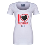 Austria Euro 2016 Women's Heart Scoopneck T-Shirt (White)