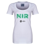 Northern Ireland Euro 2016 Women's Elements Scoopneck T-Shirt (White)