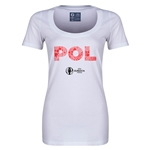 Poland Euro 2016 Women's Elements Scoopneck T-Shirt (White)