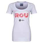Romania Euro 2016 Women's Elements Scoopneck T-Shirt (White)