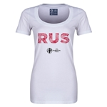 Russia Euro 2016 Women's Elements Scoopneck T-Shirt (White)