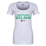 Northern Ireland Euro 2016 Women's Core Scoopneck T-Shirt (White)