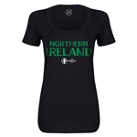 Northern Ireland Euro 2016 Women's Core Scoopneck T-Shirt (Black)