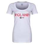 Poland Euro 2016 Women's Core Scoopneck T-Shirt (White)