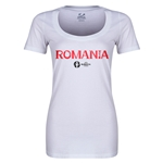 Romania Euro 2016 Women's Core Scoopneck T-Shirt (White)