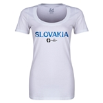 Slovakia Euro 2016 Women's Core Scoopneck T-Shirt (White)