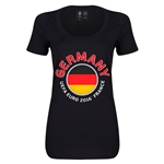 Germany Euro 2016 Women's Fashion Scoopneck T-Shirt (Black)