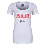 Albania Euro 2016 Women's Elements Scoopneck T-Shirt (White)