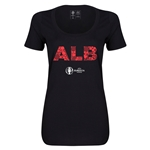 Albania Euro 2016 Women's Elements Scoopneck T-Shirt (Black)