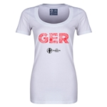Germany Euro 2016 Women's Elements Scoopneck T-Shirt (White)