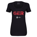 Germany Euro 2016 Women's Elements Scoopneck T-Shirt (Black)