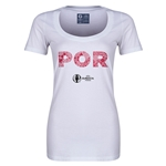 Portugal Euro 2016 Women's Elements Scoopneck T-Shirt (White)