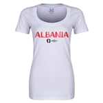 Albania Euro 2016 Women's Core Scoopneck T-Shirt (White)
