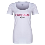 Portugal Euro 2016 Women's Core Scoopneck T-Shirt (White)
