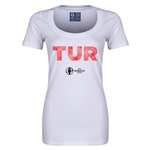 Turkey Euro 2016 Women's Elements Scoopneck T-Shirt (White)