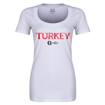 Turkey Euro 2016 Women's Core Scoopneck T-Shirt (White)