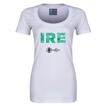 Ireland Euro 2016 Women's Elements Scoopneck T-Shirt (White)