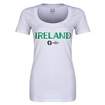 Ireland Euro 2016 Women's Core Scoopneck T-Shirt (White)