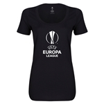 UEFA Europa League Women's Scoopneck T-Shirt (Black)