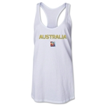 Australia FIFA Women's World Cup Canada 2015(TM) Racerback Tank Top (White)