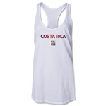 Costa Rica FIFA Women's World Cup Canada 2015(TM) Racerback Tank Top (White)